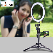 MAMEN 10 Inches USB Ring Light With Tripod Dimmable Round Lamp Selfie for Photography YouTube Video Makeup Fill
