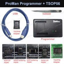 ProMan Professional nand flash programador NAND NOR + TSOP48 Adaptador + TSOP56 adaptador TL86 PLUS programador Alta Velocidad de programación