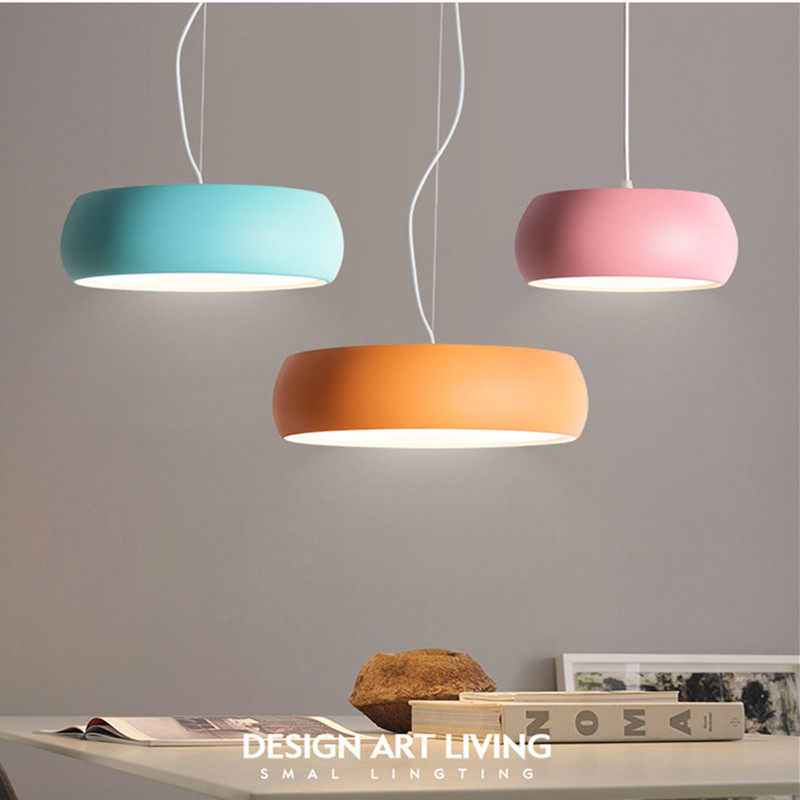 Nordic Loft Macaroons Multicolor Chandelier Bedroom Concise Creative Light Lovely Designer Suspension Light Fixtures