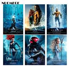 Aquaman Movie Poster Jason Momoa Superhero Movie Silk Poster Wall Art Print Decoration Pictures Wallpaper Living Room Decor movie