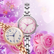 2016 June newest Top Brand JULIUS Women's Lady Wrist Watch Best Fashion Dress Bracelet Simple Arabic Numbers women watch JA-879