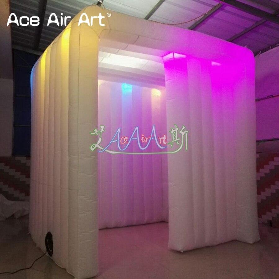 Us 5600 3 Ml 3 Mw 25mh Duurzaam Wit Opblaasbare Foto Booth Frame Tent Led Kast Canpy Voor Verkoop In Spanje In Feestelijke Achtergronden Van