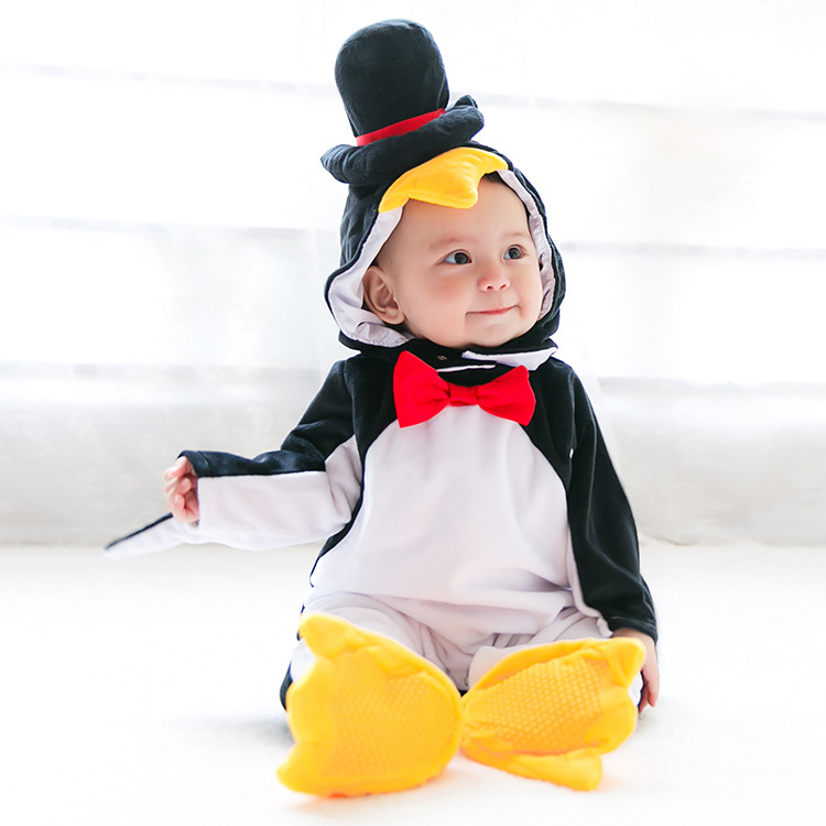 Baby boy Clothes Newborn Fleece hooded   Romper   baby cosplay costume Christmas Halloween Jumpsuit Baby Animal Winter Girls   Rompers
