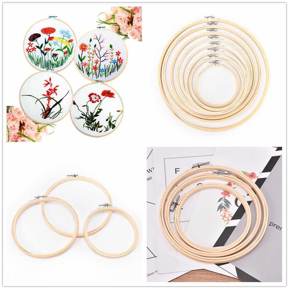 11 размеров вышивка круг набор обручи крест кольца деревянные круглые регулируемые бамбуковые обручи для художественного ремесла для вышивания набор