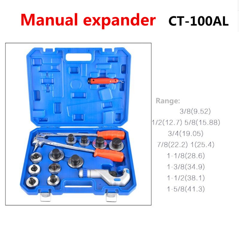 Tube Expanding Tool Set,3/8 to 1-5/8 Copper Tube Pipe Expander Tool Kit CT-100AL 10-42CMTube Expanding Tool Set,3/8 to 1-5/8 Copper Tube Pipe Expander Tool Kit CT-100AL 10-42CM