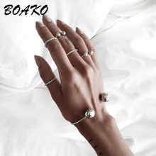 Charming Cuff Bracelets for Women Bangles Double Ball Head Bracelet Boho Jewelry Fashion Accessories Simple Bracelet & Bangle charming solid color heart cuff bracelet for women