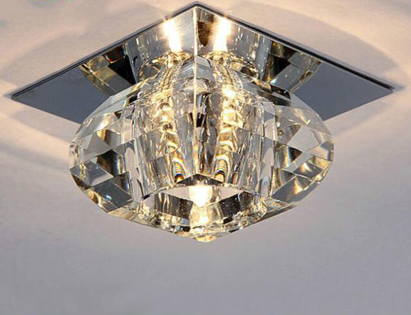 Led Creative Corridor Lamp Porches,corridors And Balconies Kind-Hearted 3w Led Crystal Ceiling Light Good Taste fit For Living Rooms