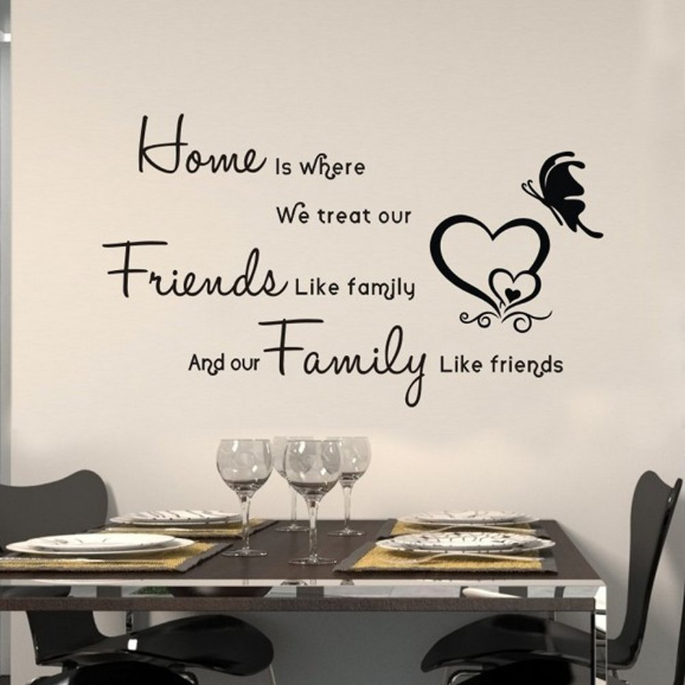 compare prices on family vinyl quotes online shopping buy low 45 60cm home treat friends like family quote art vinyl wall stickers decals welcome home