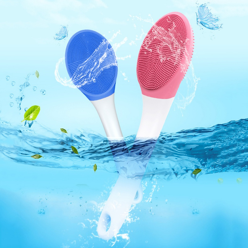 Silicone Shower Massage Brush Electric Back Glaze Brush Handle Sound Wave Soft Hair Bath Brush Rechargeable Waterproof Artifact