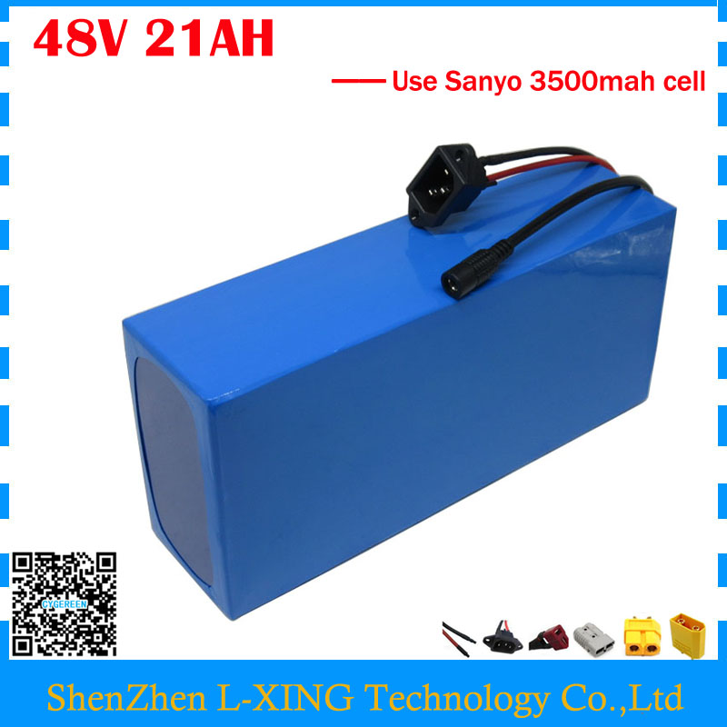 все цены на High quality 48V 21AH electric bike battery 48V 21AH scooter lithium battery 48V PVC Akku use NCR18650GA 3500mah cell 50A BMS онлайн