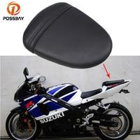 POSSBAY PU Leather Motorcycle Retro Solo SeatsPads Cover Rear Passenger Seat Cushion Pillion For Suzuki GSXR 1000 K7 2007 2008