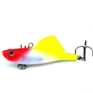 Image 5 - 1Pcs 16.5g 6.5cm VIB Fishing Soft Silicone Lead Lure Bait Wobbler Artificial Sinking Soft Bait 3D eye Winter Sea Fishing