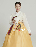 2019 Hanbok Dress Hanbok Dress Custom Made Korean Modern Woman Hanbok High Waist Hanbok