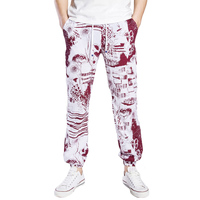 Fashion 2017 Summer Loose Trousers Casual Floral Print Baggy Harem Pants Drawstring Pants For Mens Joggers