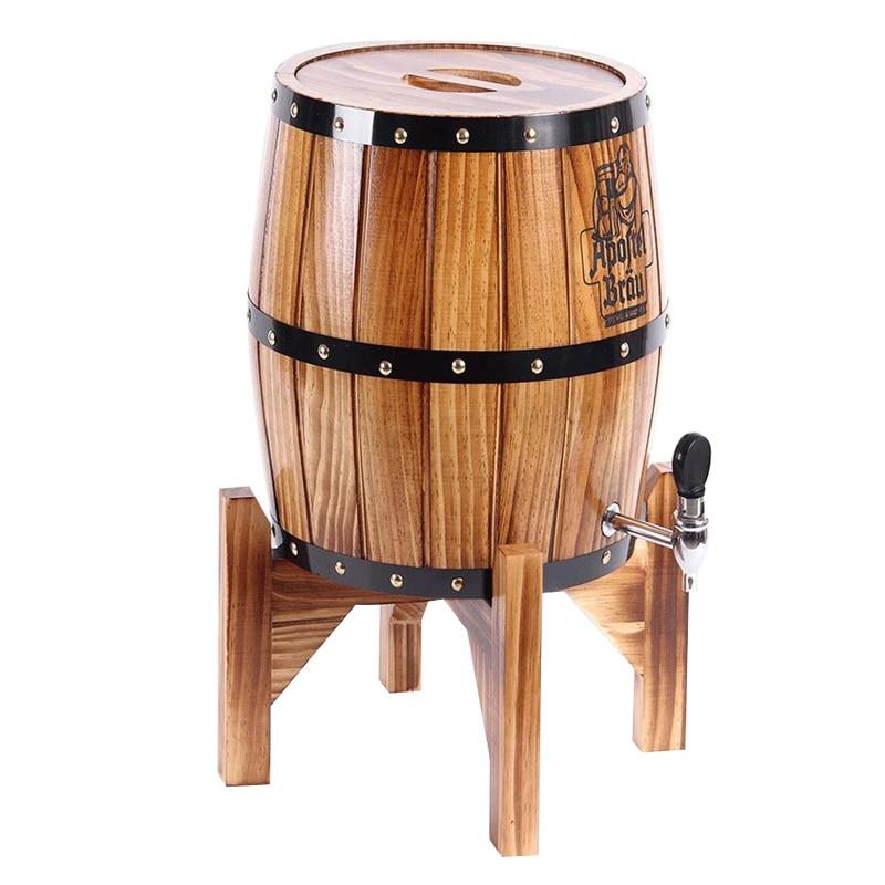 5l beer barrel wooden oak barrels decoration bar whiskey for Barriles de madera bar
