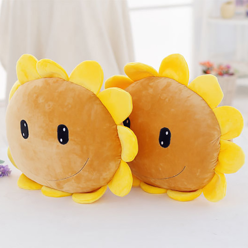 Dolls & Stuffed Toys Original Plush Cute Cartoon Helianthus Annuus Sunflower Cushion Stuffed Toy Real Life Soft Flower Pillow Kids Toys Christmas Gift Qb186 Volume Large