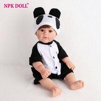 NPKDOLL Reborn Baby Doll Panda 16 inch 45cm Full Vinyl Bath Dolls Kids Toys Girl Birthday Gift Cute Fashion Lifelike Newborn