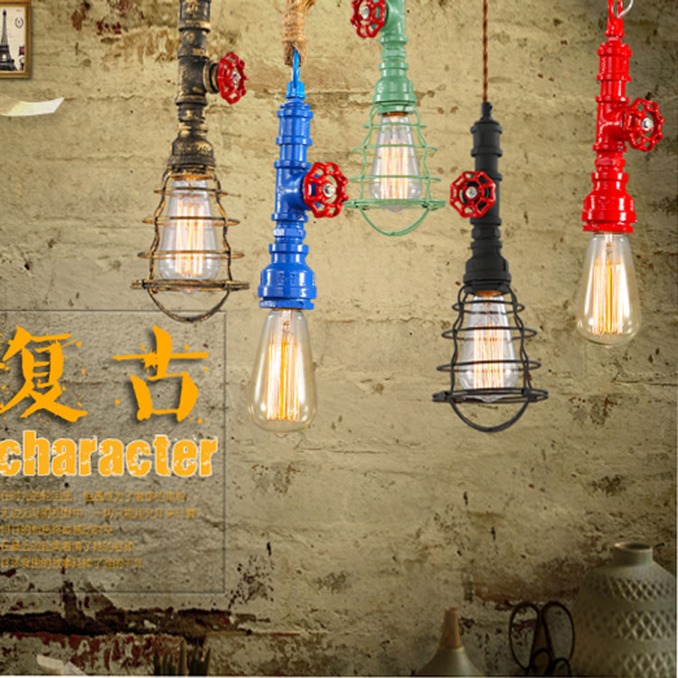 ФОТО Now retro  Pendant Lights A variety of colors can be selected Hemp Channel pendant LIGHTS CL