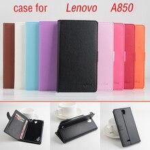 Litchi для Lenovo A850 c A se, Хорошее качество Новый le A там c A SE + h a rd B A CK чехол для Lenovo A850 A 850 телефон c A se