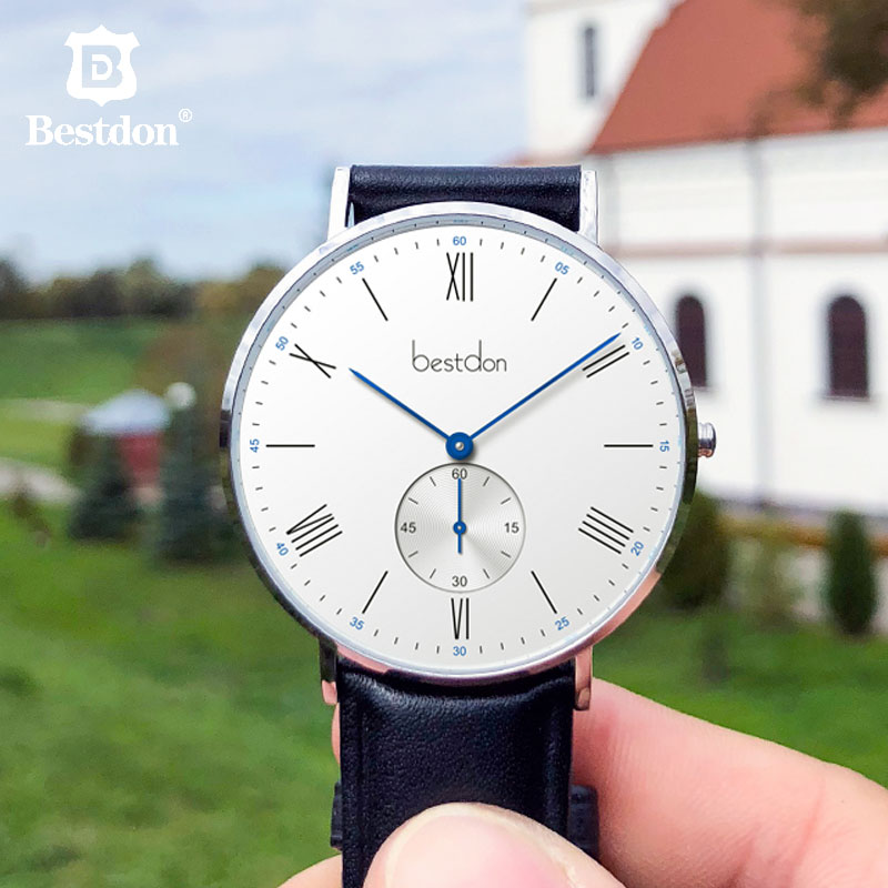 Bestdon Ultra Thin Men s Quartz Watches Fashion Classic Watches Personality Blue Top Brand Luxury Leather
