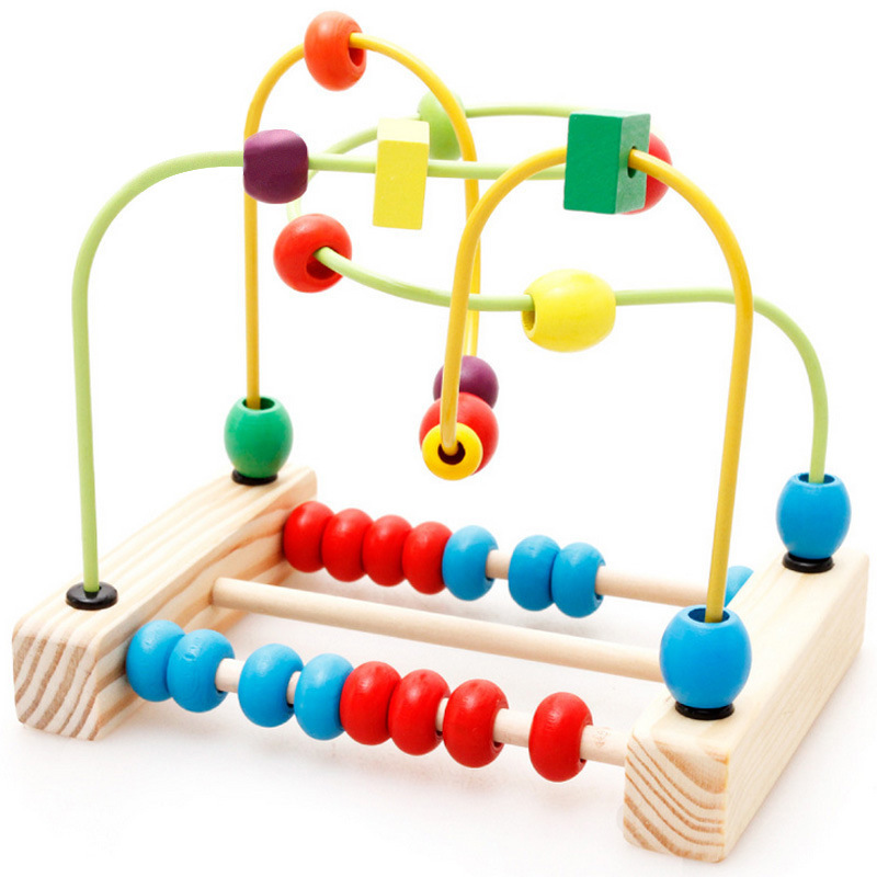 Wooden Toys Baby Bead Maze Toys For Baby Fine Motor Skills
