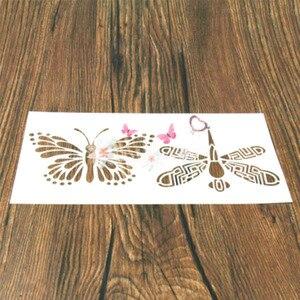 1 шт. животное в форме бабочки многоразовый трафарет аэрограф Живопись Искусство DIY домашний декор лом заказ альбом ремесла