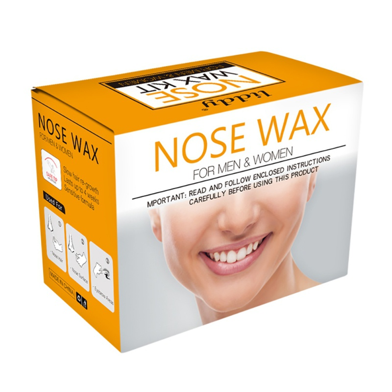 Hot Film Hard Wax Paper-Free Nose Hair Wax Beans Nose Hair Removal Wax Set No Strip Depilatory Nostril Cleaning Wax Kit