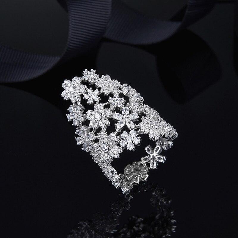 [MeiBaPJ] bague à fleurs en argent Sterling pur S925 pour femmes avec pierres AAA de haute qualité