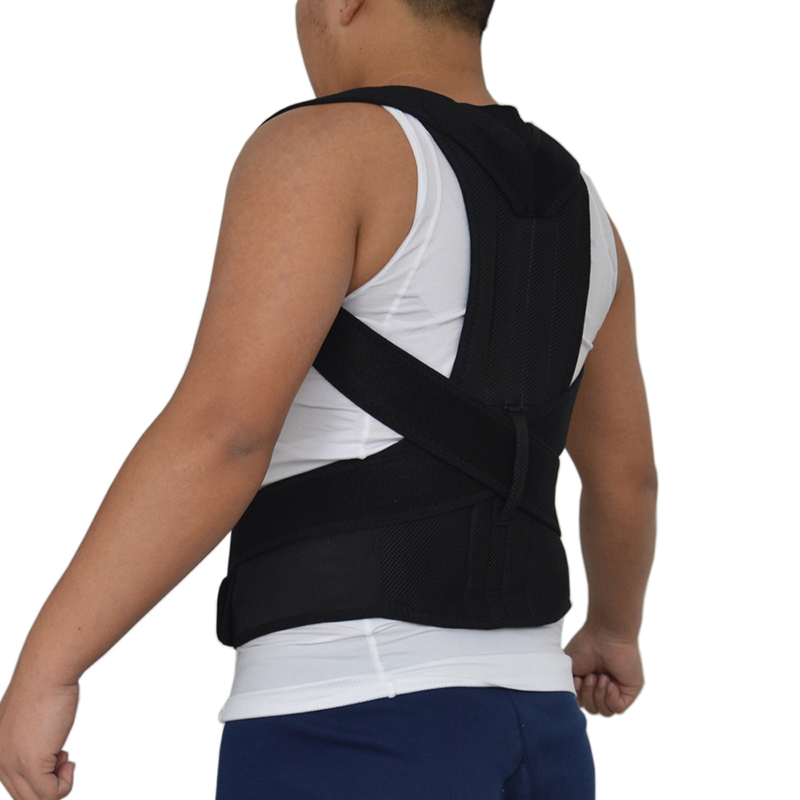 Unisex Health Orthopaedic Adjustable Back Support Straighten Out Brace Belt Magnetic Back Shoulder Posture Corrector