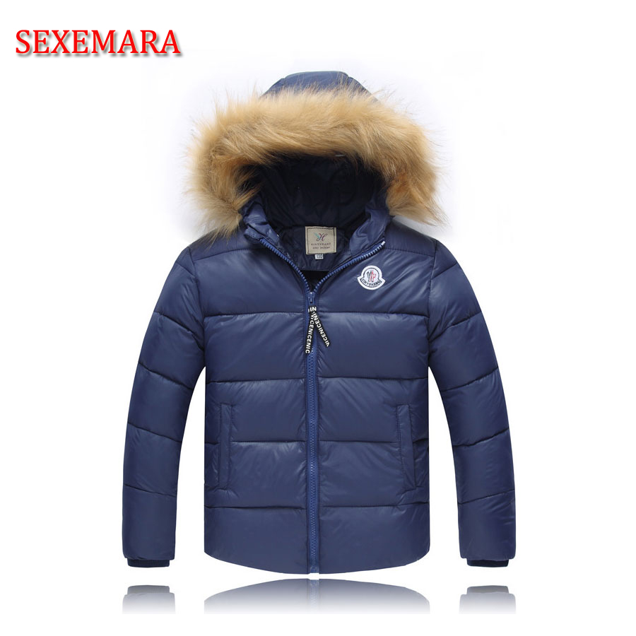 Winter Children Boys Jackets Cartoon Tyrannosaurus Girls Winter Coat Kids Outerwear Baby Boys Girls Down Jacket