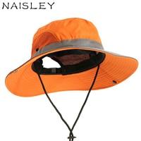 NAISLEY 2018 Yaz Kova Şapka Açık Eğlence Geniş Brim Seyahat Benni balıkçılık Şapka Güneşlik Güneş Şapka Erkekler Ve Kadınlar Modeli Kap erkekler