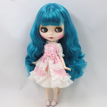Factory Neo Blythe Doll Cyan Hair Jointed Body 30cm
