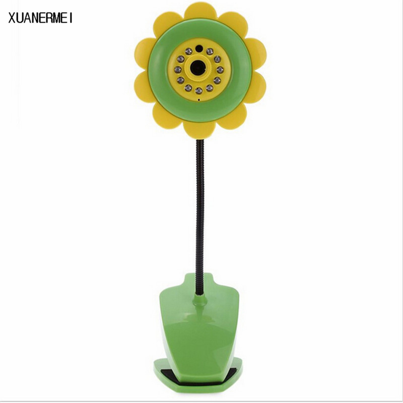 Electronica Sunflower Wireless Baby Monitor Vedio Baby monitor Wifi IR Night Vision Sleep Monitor Nanny Camera Audio Mini Camera wireless nanny video baby monitor camera lcd electronica night vision ir temperature smart audio monitor bebe