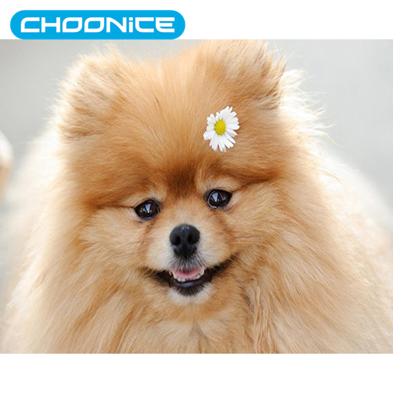 Dogs White Diamond Painting Pokemon Sunflower Puppy DIY 3D Diamond Embroidery Coloring By Numbers Point De Croix Diamant