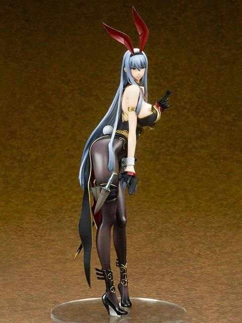 Ques Q Valkyria Chronicles Selvaria Bles Bunny Ver. PVC Action Figure Anime Sexy Girl Figure Giocattoli di Modello di Raccolta Regalo Bambola