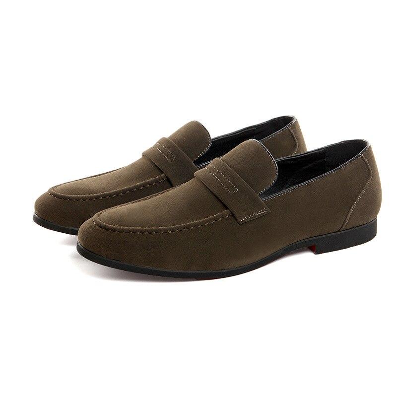 38 Retro verde vermelho Preto Sapatos Homens Do Oxford Mocassim Brilhante Tamanho De Casuais Couro Elegante Casamento Negócios Nova Para Condução Flats 48 cinza qTH17wB