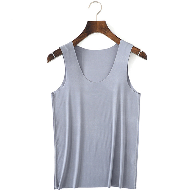 Summer Close-fitting Mens tank tops 2018 sexy underwear traceless sleep tops U-neck mens bottoming shirt homewear top
