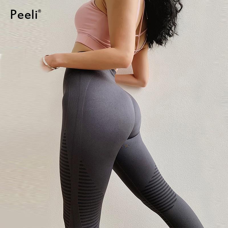 Womens Seamless Leggings Sports Gym High Waist Tummy Control Push up Yoga Pants