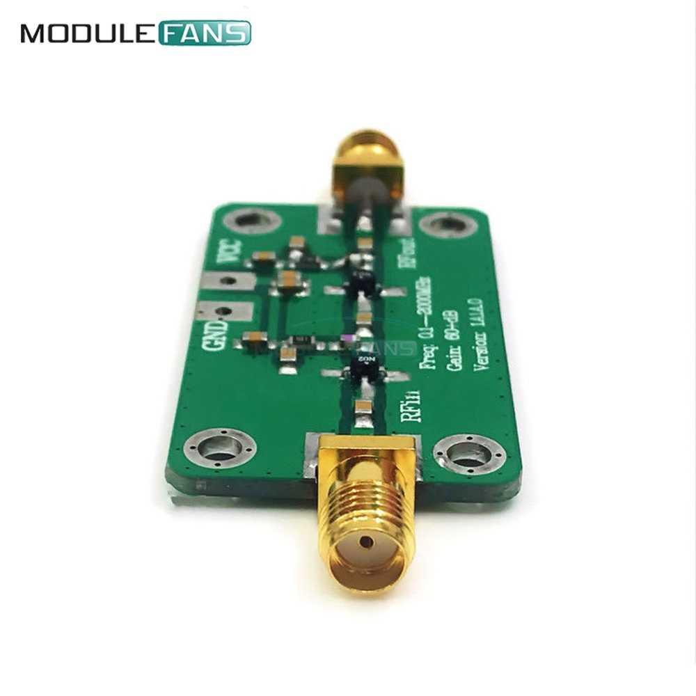 0.1-2000MHz Gain 60dB RF Broadband Amplifier Module LNA Board LNA 0.1~2GHZ