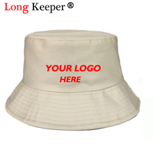 24d4034474a Long Keeper Customized Bucket Hats Women Custom Caps Embroidered Printed  Logo 100% Cotton High Quality