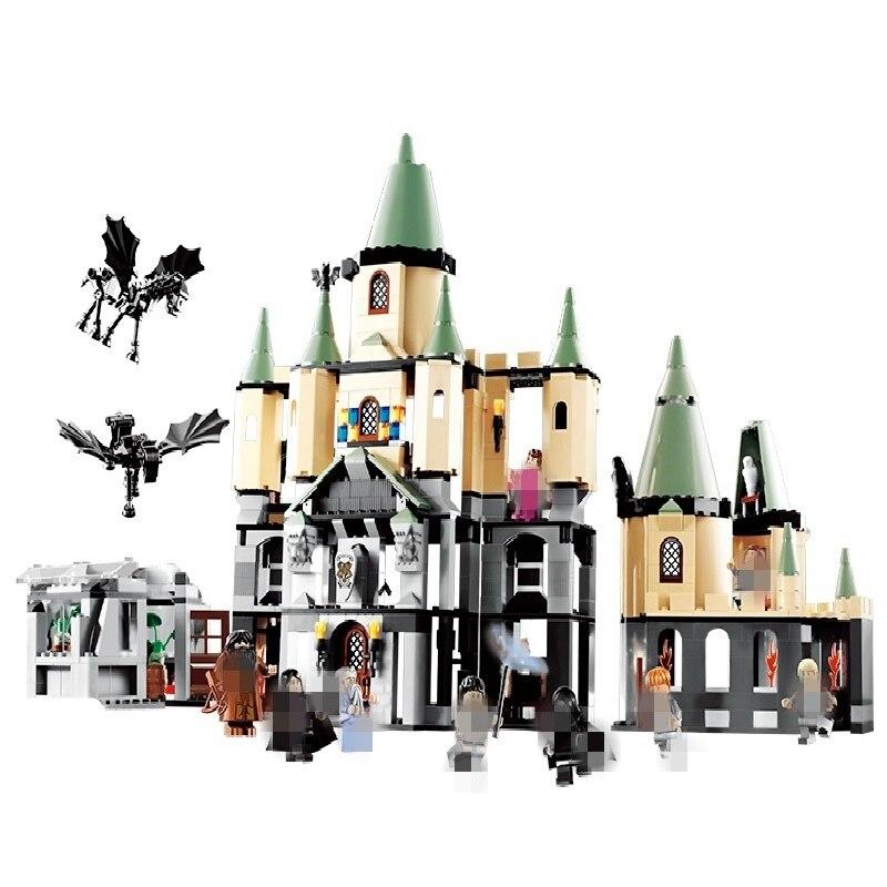 Гарри Поттер Хогвартс замок фильм серии 16029 Совместимость с Legoingly Гарри Поттер Хогвартс 5378 строительные блоки кирпичи игрушки