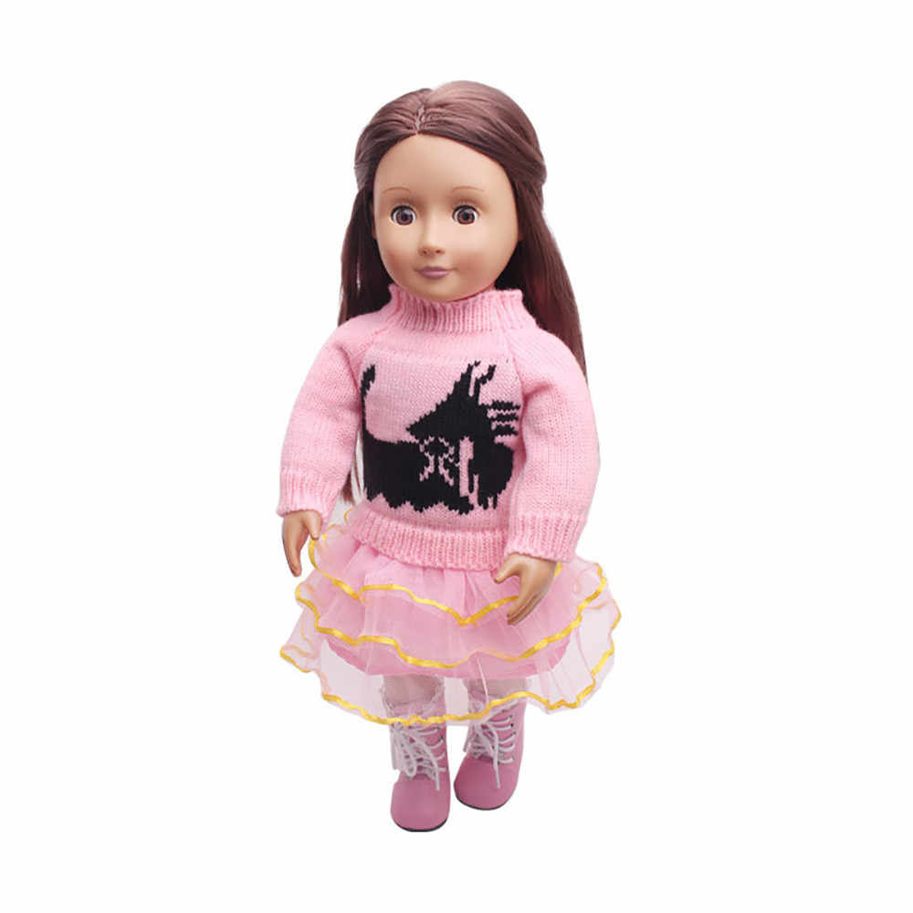 1b9c054cd2 Baby Born Brand Dolls Clothes Sweater & skirt For 18 inch American Girl  Doll Accessories lol Kid Toy Gift Dropshipping