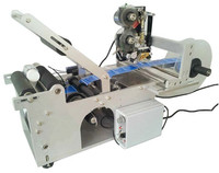 China Manufacturer Semi Automatic Bottle Labeling Machine With Lebel Ribbon Printing Machine