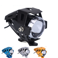 FISHBERG Motorcycle LED Headlight CREE U5 125W 3000LM White 6000K Fog DRL Daytime Running Light Spotlight