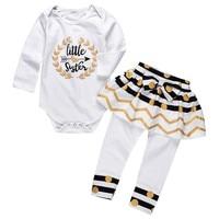 Toddler Baby Girls Matching Clothes Newborns Bodysuits+ Polka Dot Skirt Outfits Set