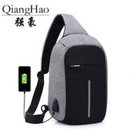 Canvas Men Backpack Anti Theft With Usb Charger Laptop Business Unisex Knapsack Shoulder Waterproof Women Travel