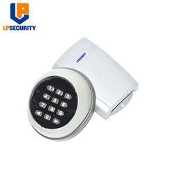 LPSECURITY 433MHZ bezprzewodowa klawiatura ścienna do garażu/huśtawka/brama przesuwna otwieracz/bezprzewodowy przełącznik klawiatury z odbiornikiem w Klawiatury kontroli dostępu od Bezpieczeństwo i ochrona na