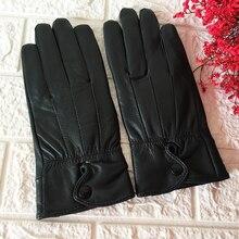 Best seller black leather gloves women Genuine Leather winter short High grade Real 100% sheepskin