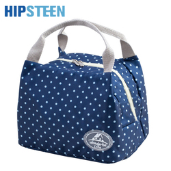 HIPSTEEN Simple Design Reusable Picnic Insulated Lunch Bag Outdoor Thicken Insulation Cold Bag Handbag Lunchbox Storage Bag