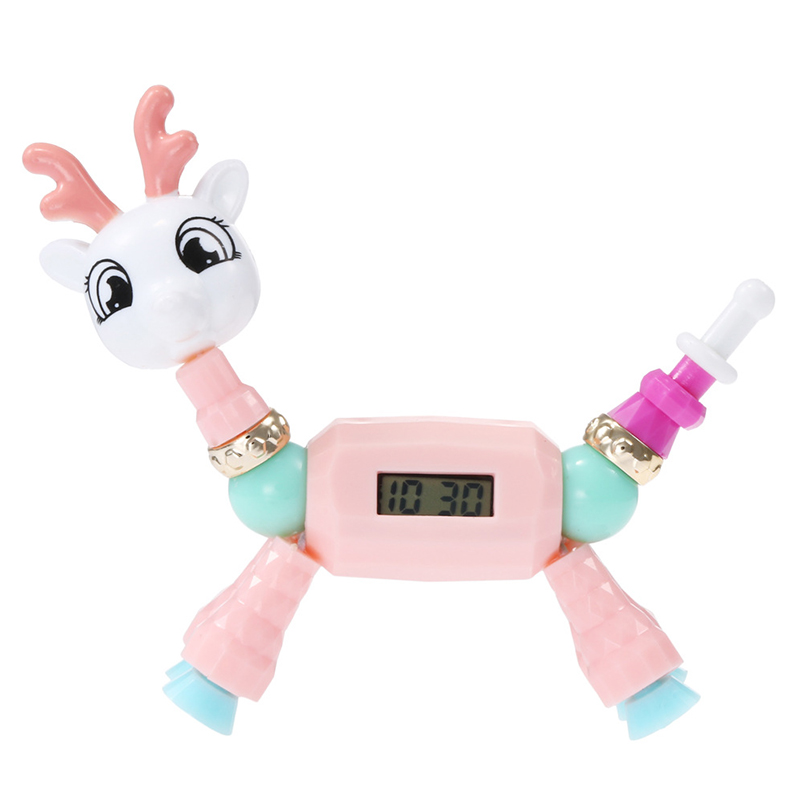 2019 New Elf Beaded Bracelet Children's Watch Cartoon Animal Magic Variety Children's Educational Toys Electronic Watch